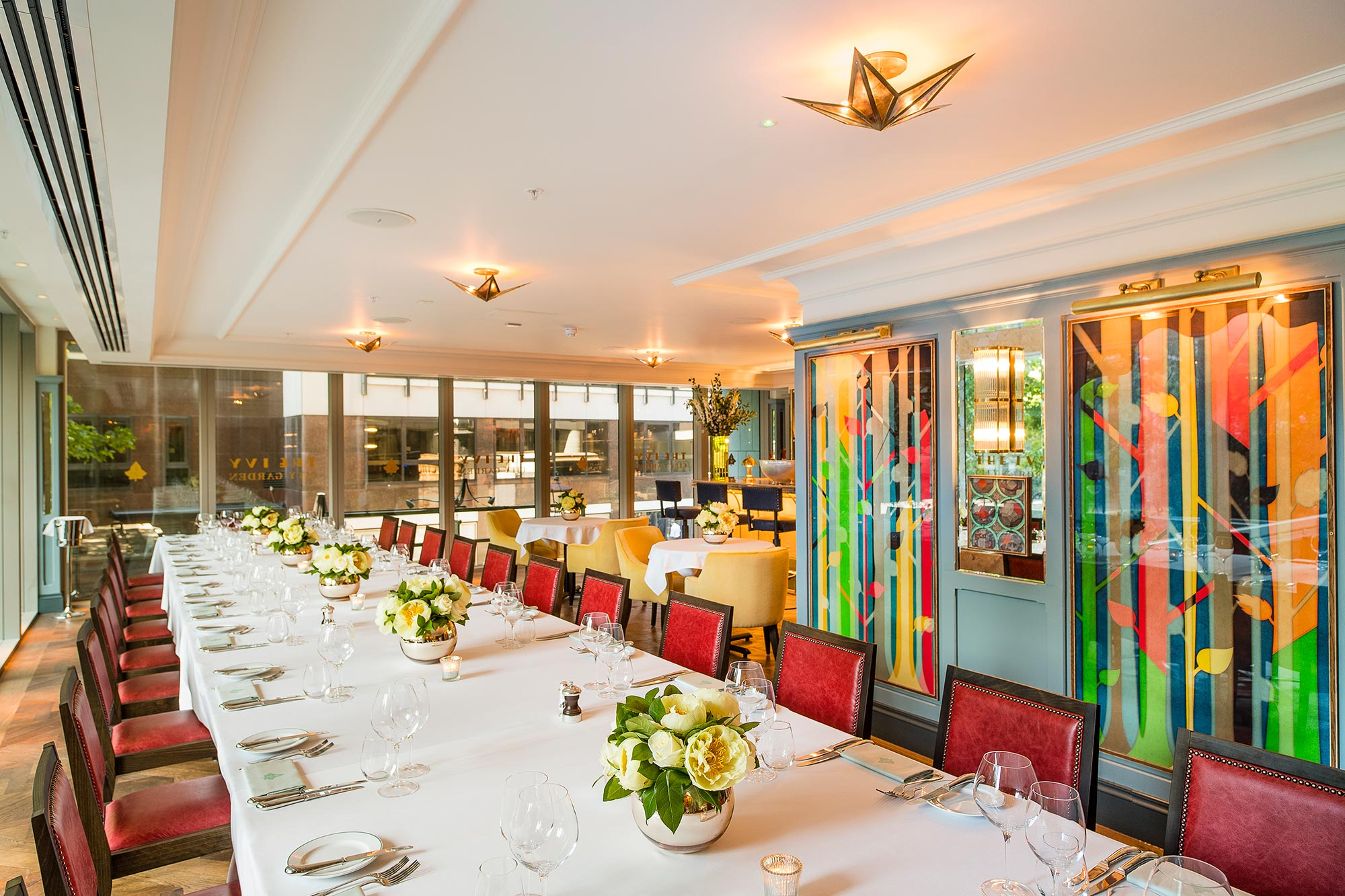 Private Dining in London - The Ivy City Garden - The Ivy City Garden