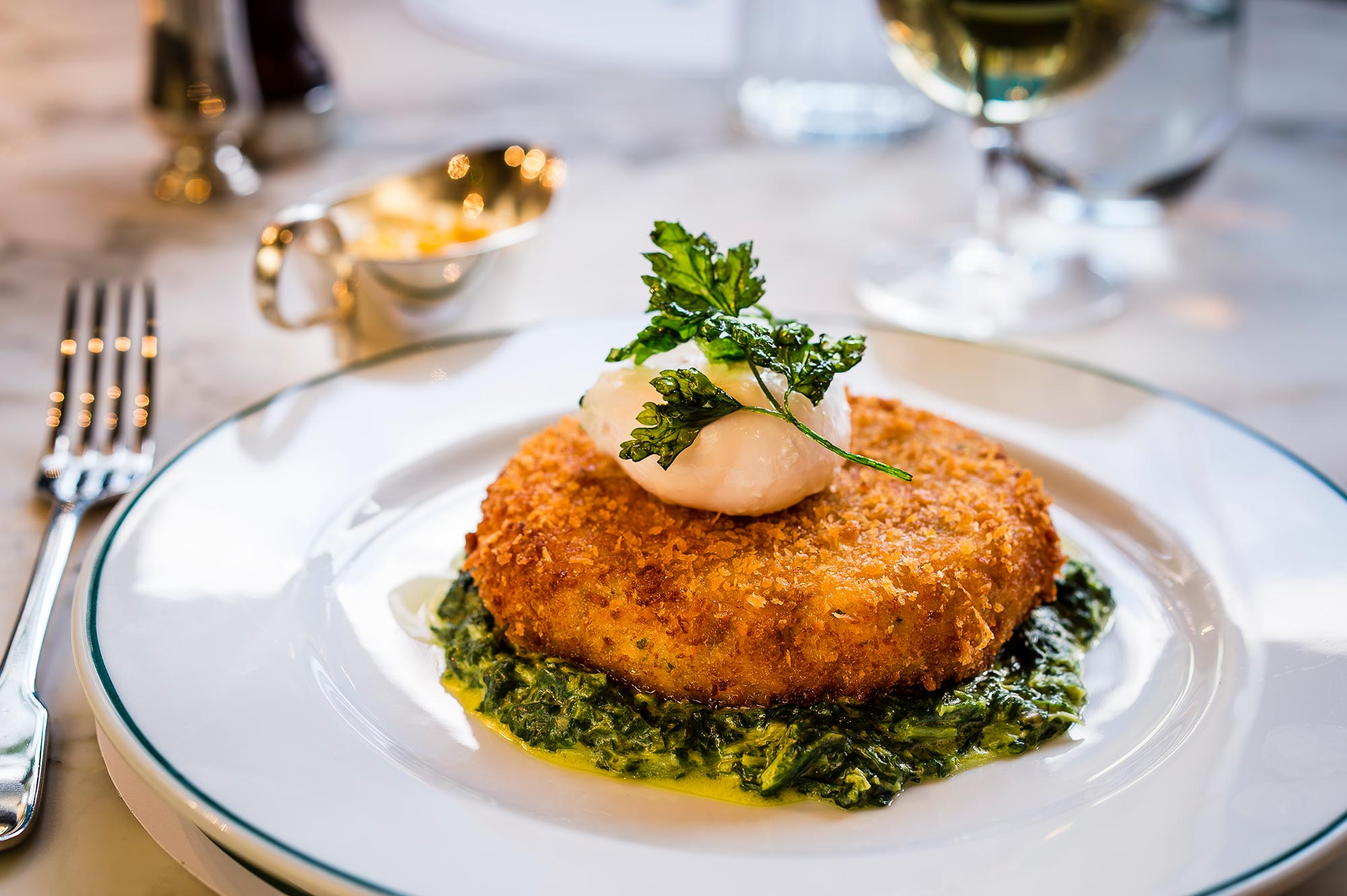 Restaurants in Bath, The Ivy Bath Brasserie - Fish Cake - The Ivy Bath Brasserie