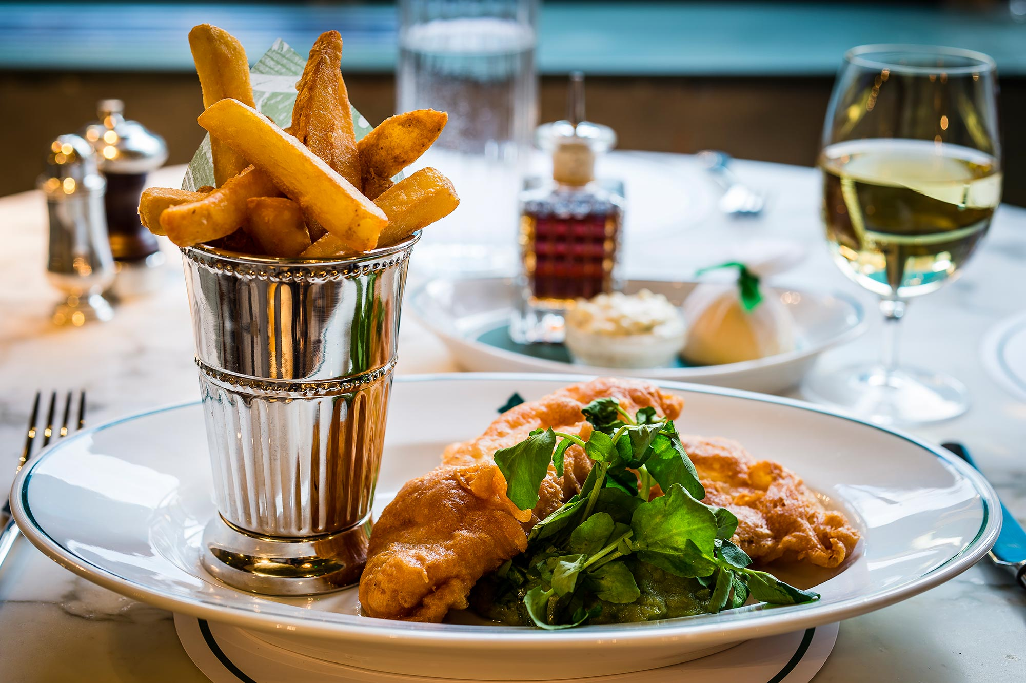 Eating out in Bath, The Ivy Bath brasserie - Fish and Chips - The Ivy Bath Brasserie