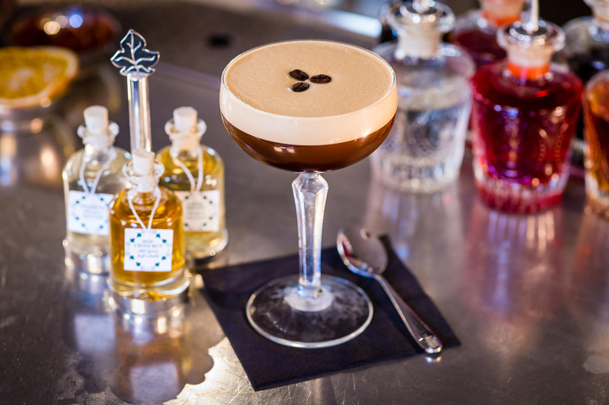 Cocktails in Bath at The Ivy Bath Brasserie - The Ivy Collection Espresso Martini and Infusions - The Ivy Bath Brasserie