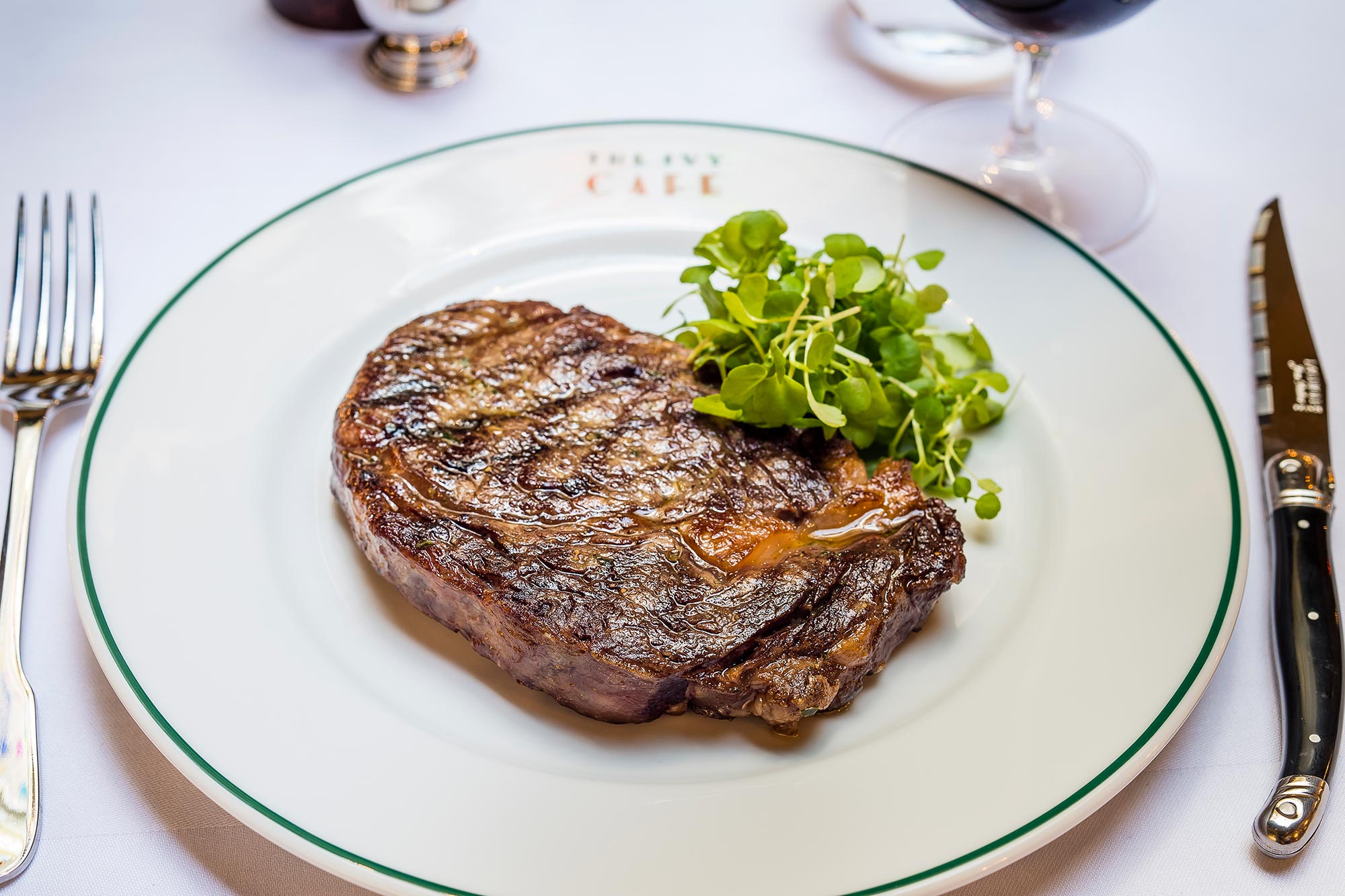 Dinner in Harrogate, Rib eye steak at The Ivy Harrogate Brasserie - The Ivy Harrogate