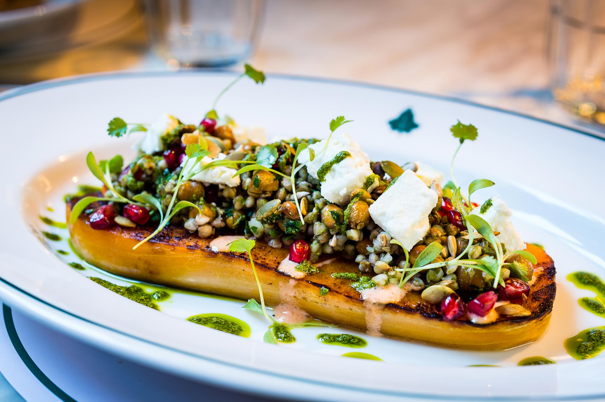 Vegetarian and Vegan Menus at The Ivy Harrogate Brasserie - Roasted Butternut Squash - The Ivy Harrogate