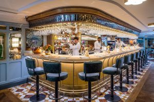 The bar at The Ivy Harrogate Brasserie