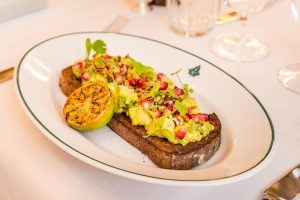 Brunch in Harrogate at The Ivy Harrogate - The Ivy Collection Crushed avocado on gluten free toast