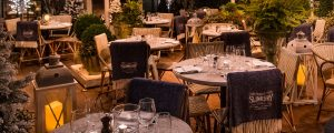 Winter terrace for dinner in Harrogate at The Ivy Harrogate