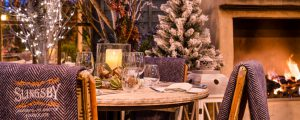The Ivy Harrogate - Terrace collaboration with Slingsby Gin - Winter Garden