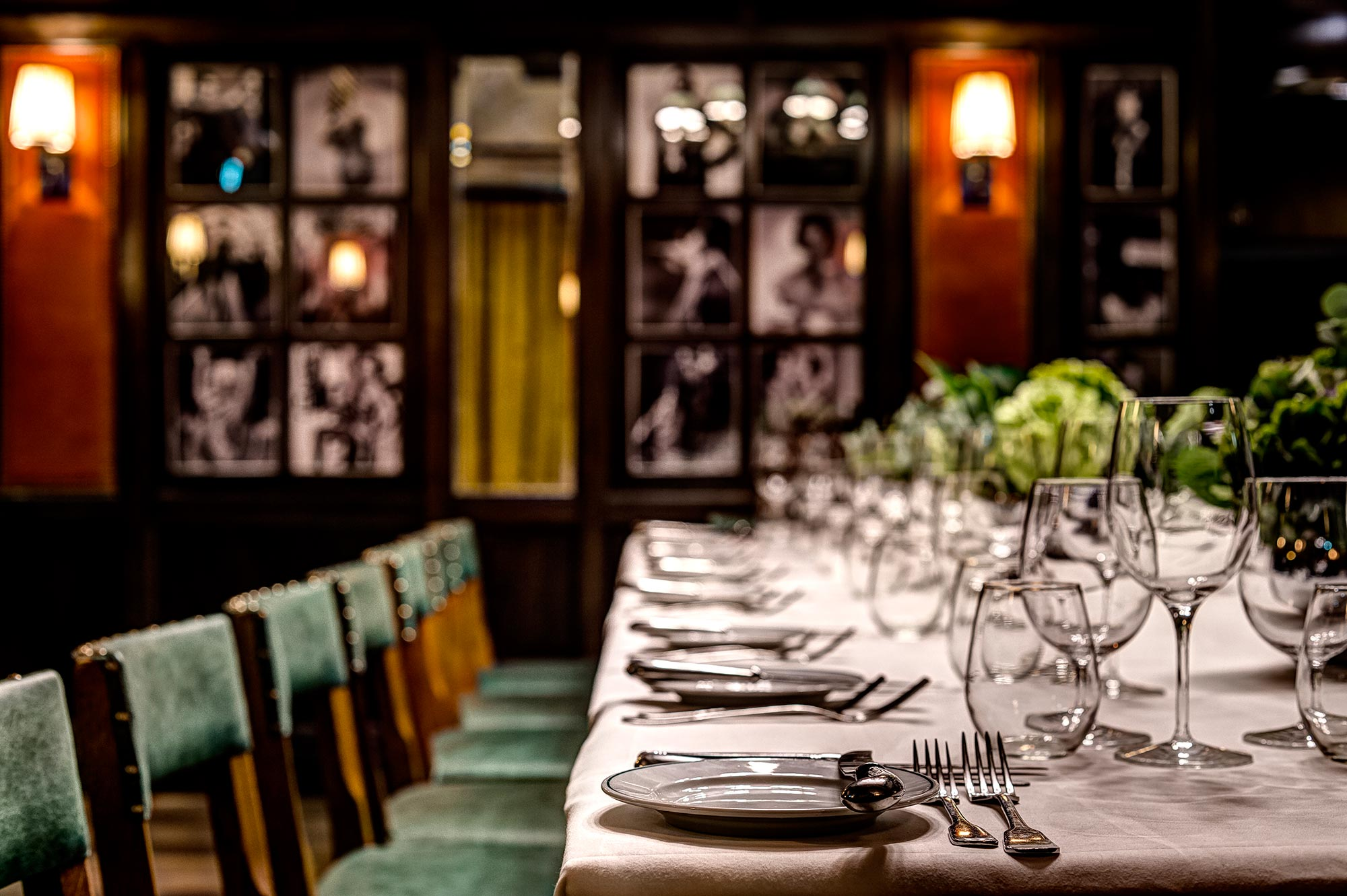 The Galatea Room at The Ivy Market Grill, one long table - The Ivy Market Grill