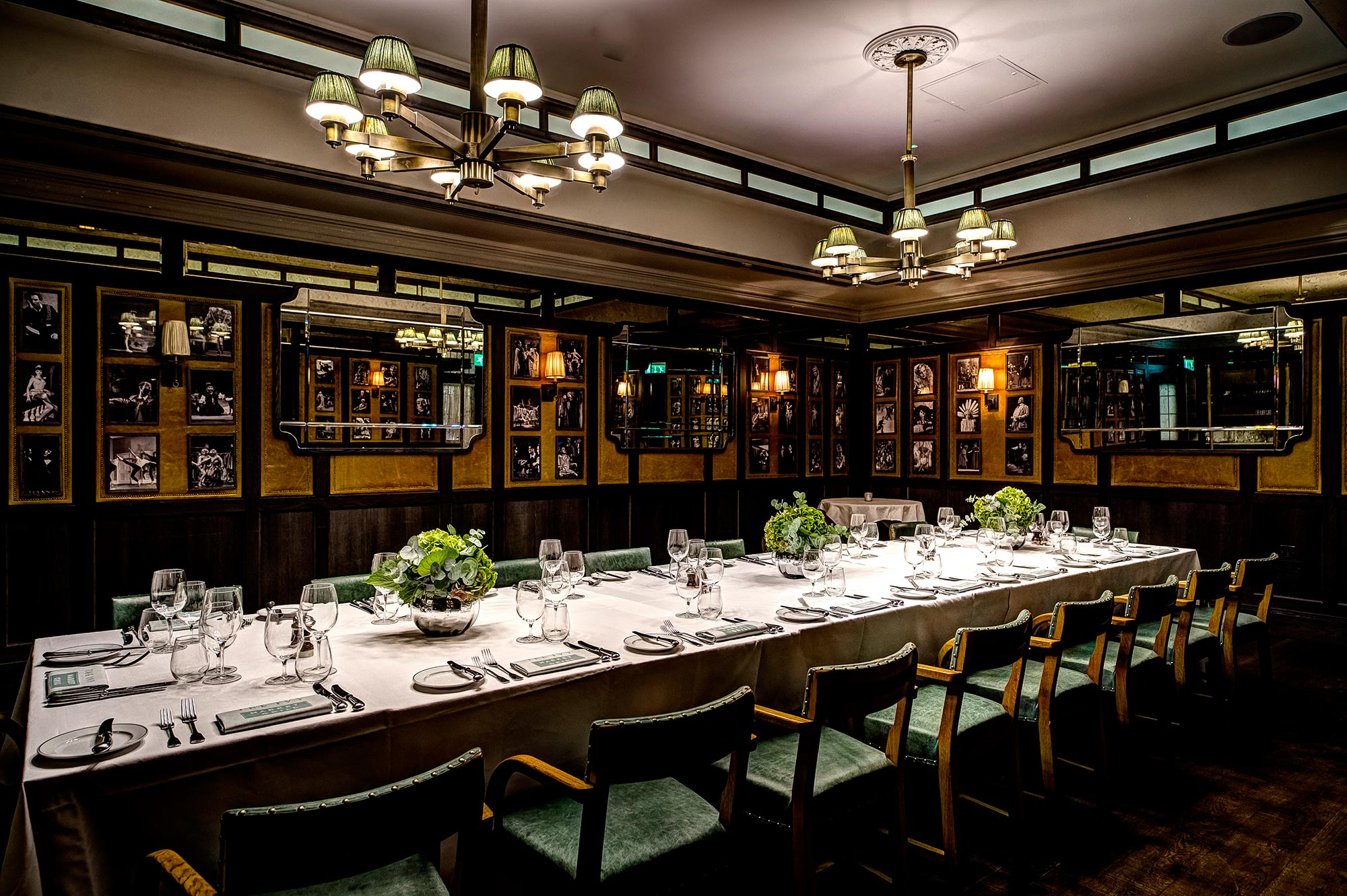 Group Dining in Covent Garden, The Ivy Market Grill - The Pygmalion Room, one long table - The Ivy Market Grill