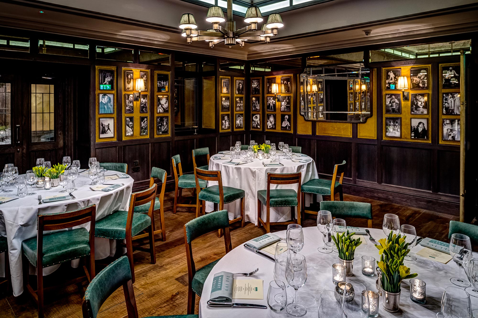 The Ivy Market Grill - The Pygmalion Room, round tables - The Ivy Market Grill