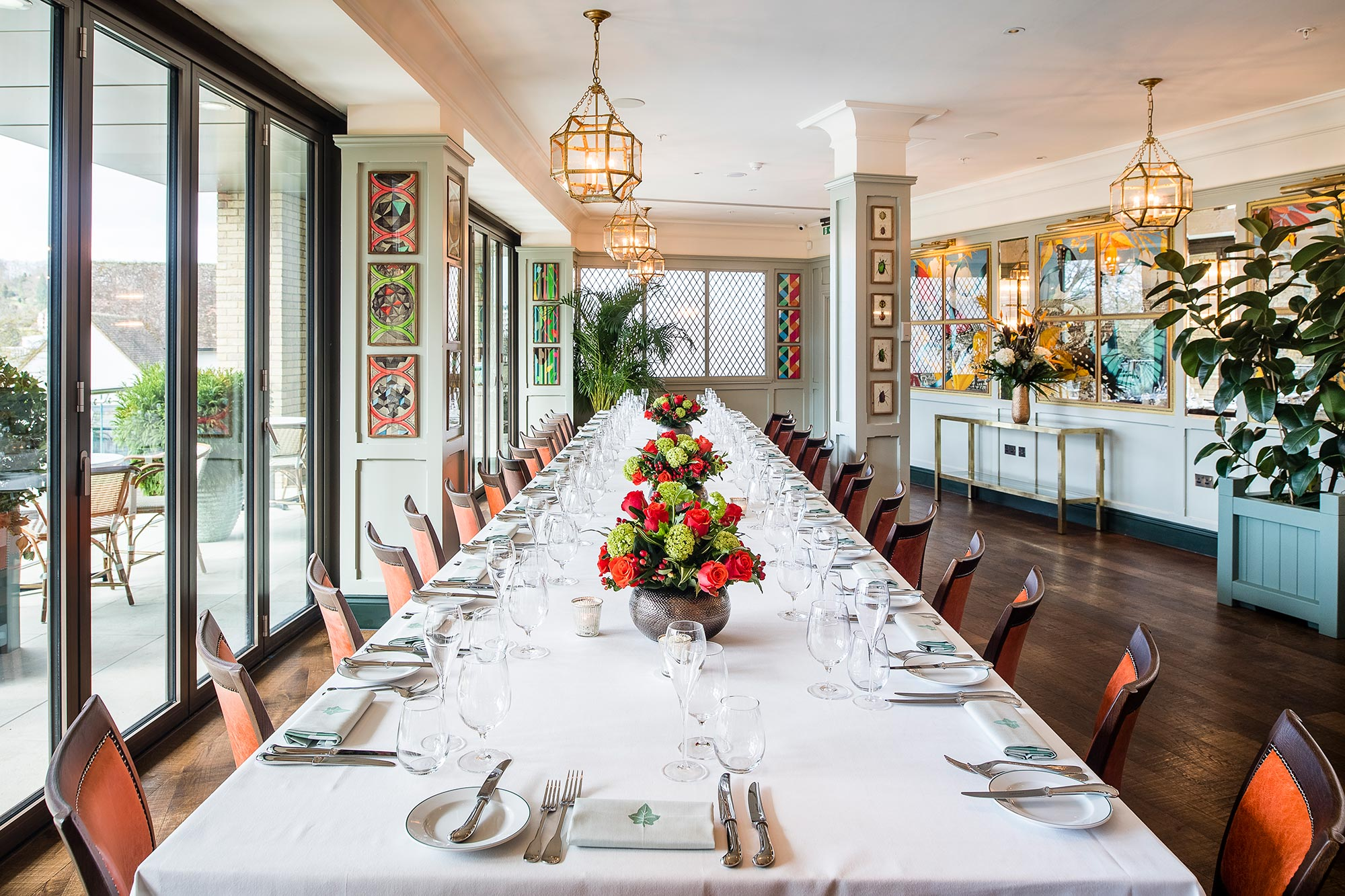 Private Dining And Hire The Ivy Castle View Guildford
