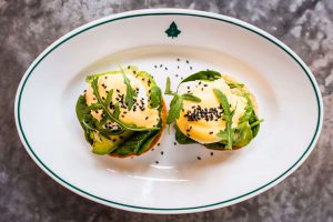 Food at The Ivy Royal Tunbridge Wells - Avocado with spinach Benedict