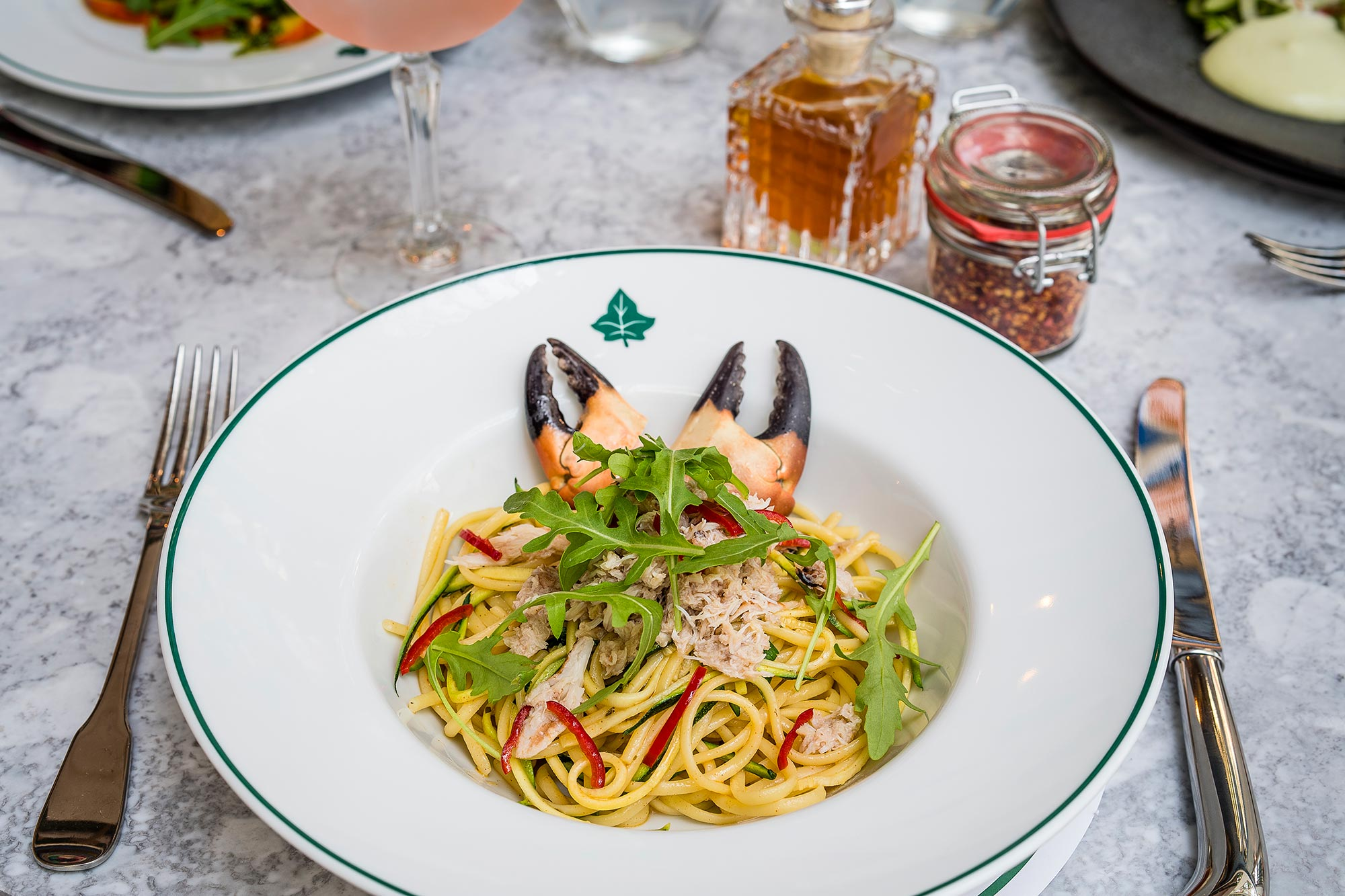 Dining out at The Ivy Cafe Blackheath - Crab Linguine - The Ivy Café, Blackheath
