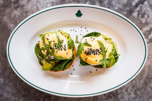The Ivy in the Lanes in Brighton - Restaurant serving breakfast - avocado with spinach Benedict