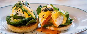 The Ivy St Albans Brasserie - avocado with spinach Benedict