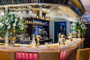 The bar at The Ivy St Albans Brasserie
