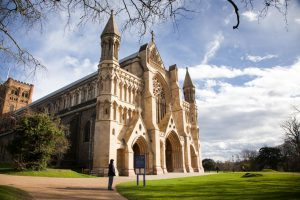 St Albans Cathedral near The Ivy St Albans Brasserie