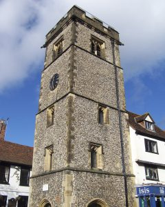 St Albans Clock Tower near The Ivy St Albans Brasserie