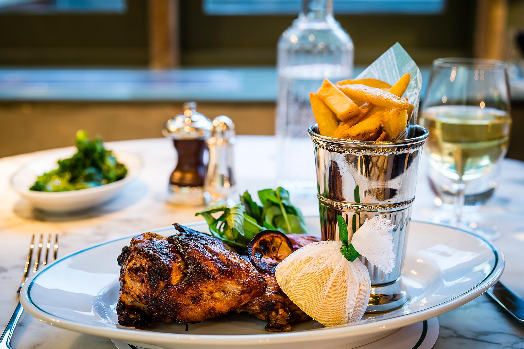 Chargrilled Banham half chicken at The Ivy Chelsea Garden - The Ivy Chelsea Garden