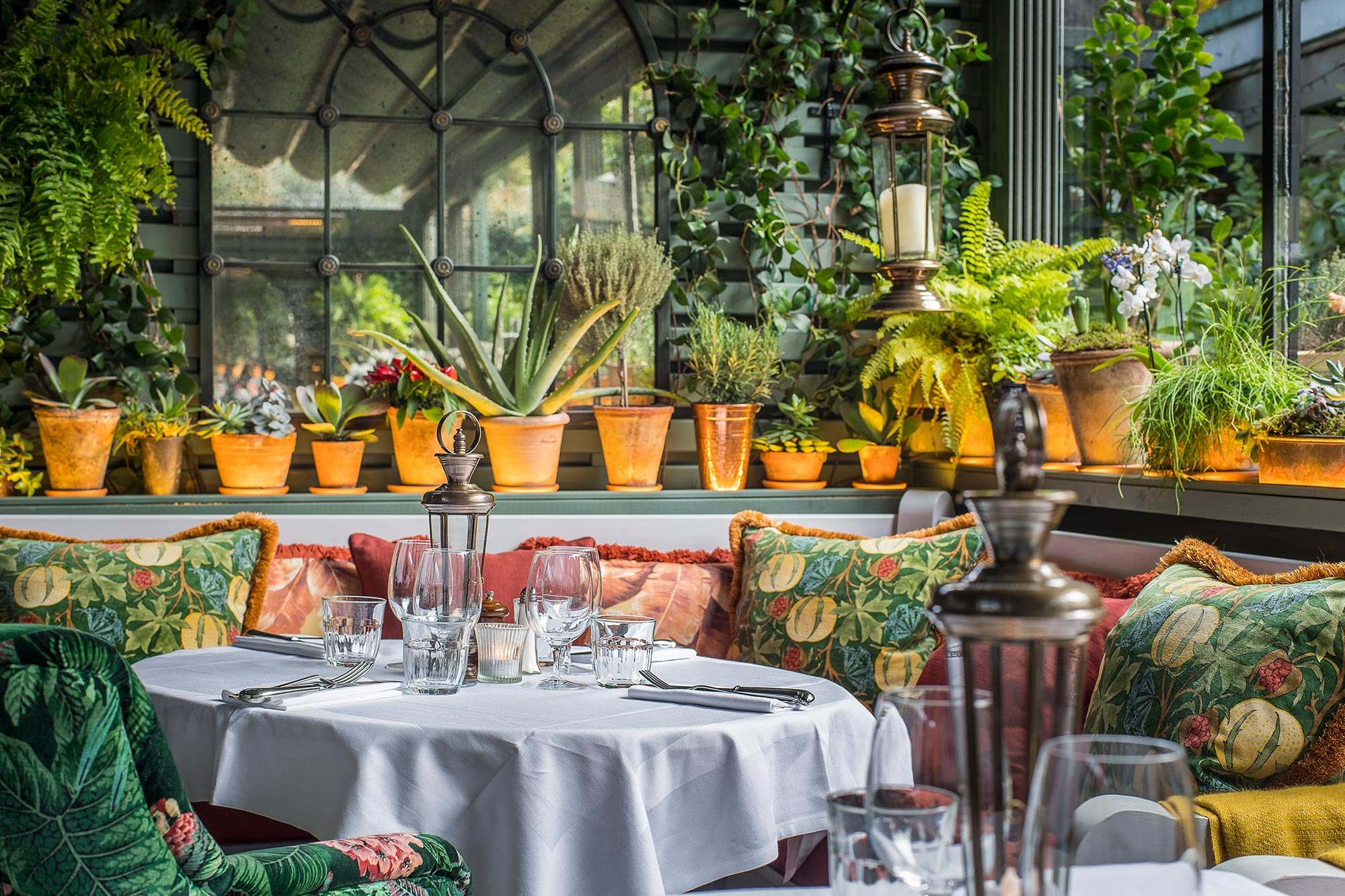Eating out in Chelsea - The Winter Terrace at The Ivy Chelsea Garden - The Ivy Chelsea Garden