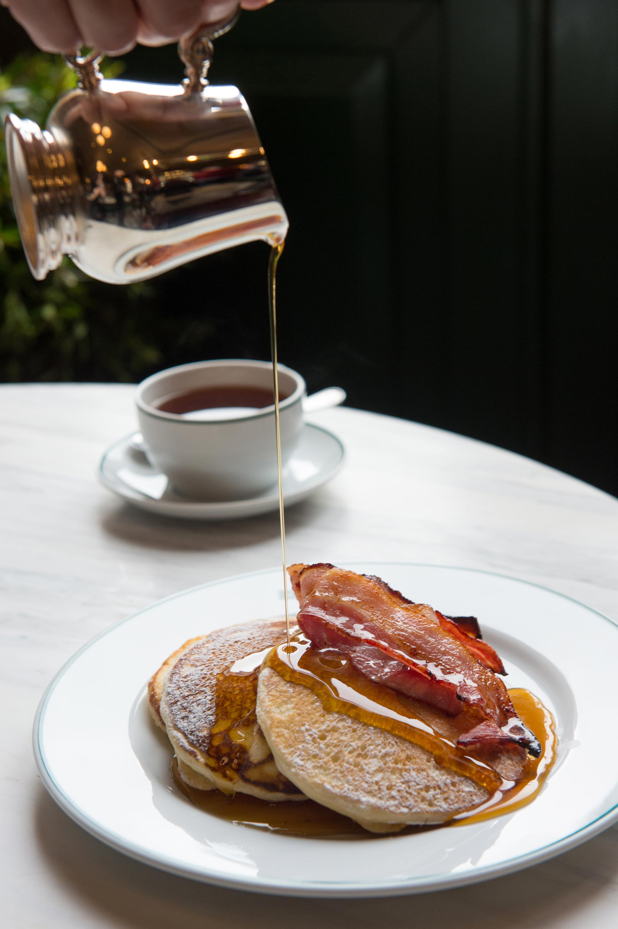 The Ivy Collection pancakes and bacon - The Ivy St John's Wood - The Ivy St John's Wood
